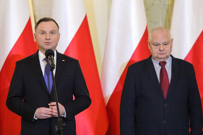 Prezydent Andrzej Duda (L) i Adam Glapiński, prezes NBP (P) /Andrzej Hulimka  /Agencja FORUM