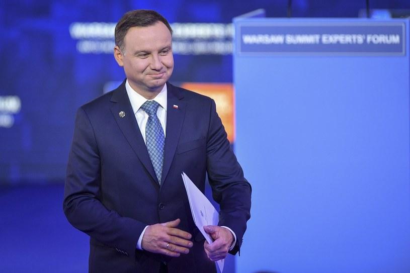 Prezydent Andrzej Duda na otwarciu Warszawskiego Szczytu Ekspertów /Rafal Oleksiewicz /Reporter