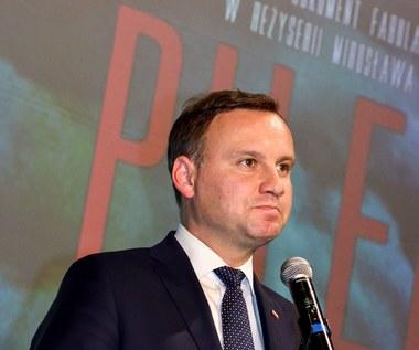 """Prezydent Andrzej Duda na pokazie """"Pileckiego"""""""