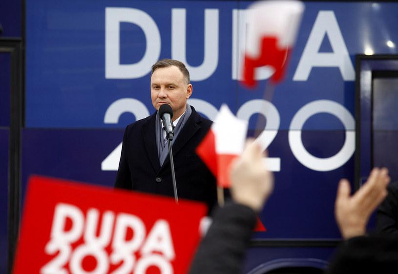 Prezydent Andrzej Duda na spotkaniu wyborczym w Bytomiu / Arkadiusz Lawrywianiec /Agencja FORUM