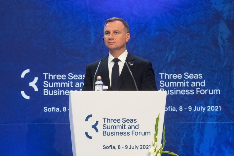 Prezydent Andrzej Duda na szczycie Trójmorza w Sofii /Andrzej Lange /PAP