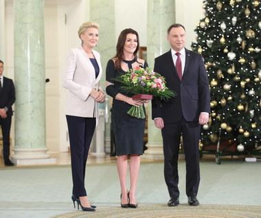 Prezydent Andrzej Duda odznaczył Agnieszkę Radwańską. Wideo