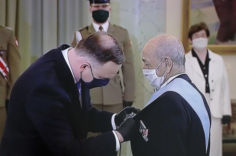 Prezydent Andrzej Duda odznaczył Orderem Orła Białego onkologa prof. Andrzeja Kułakowskiego / Paweł Supernak   /PAP