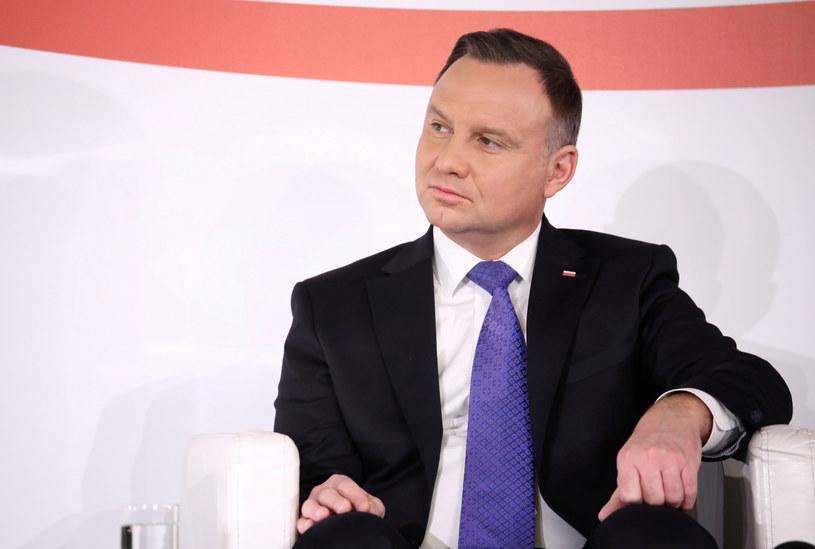 Prezydent Andrzej Duda otrzymał w sondażu 46,6 proc. poparcia /Piotr Molecki /East News