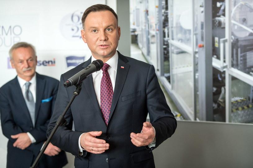 Prezydent Andrzej Duda (P) / Tytus Żmijewski    /PAP