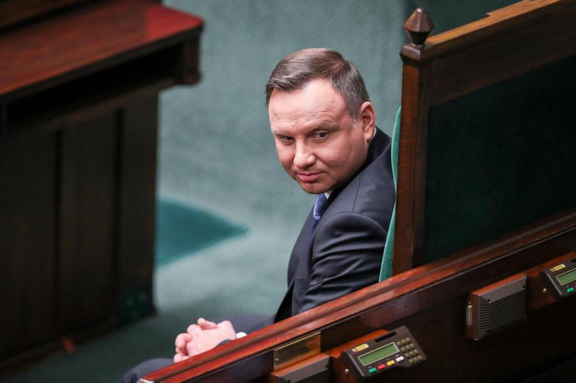Prezydent Andrzej Duda podczas inauguracji nowej kadencji Sejmu /fot. Andrzej Iwanczuk /Reporter