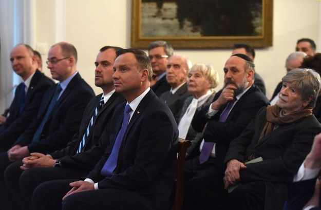 Prezydent Andrzej Duda podczas uroczystości w Belwederze (fot. Kancelaria Sejmu / Marta Marchlewska /