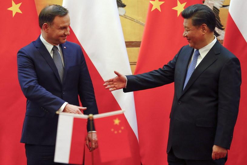 Prezydent Andrzej Duda podczas wizyty w Chinach /DAMIR SAGOLJ /PAP/EPA