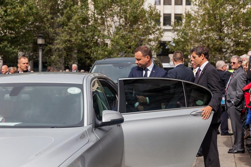 Prezydent Andrzej Duda podczas wizyty w Londynie w 2015 roku jeździł taksówką /Piotr Apolinarski /Agencja FORUM