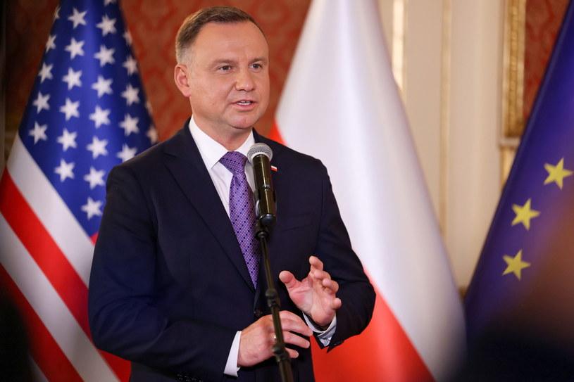 Prezydent Andrzej Duda podczas wizyty w USA /Grzegorz Jakubowski/KPRP /PAP