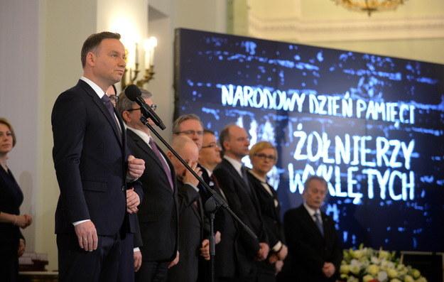 Prezydent Andrzej Duda podczas wtorkowych uroczystości /Marcin Obara /PAP