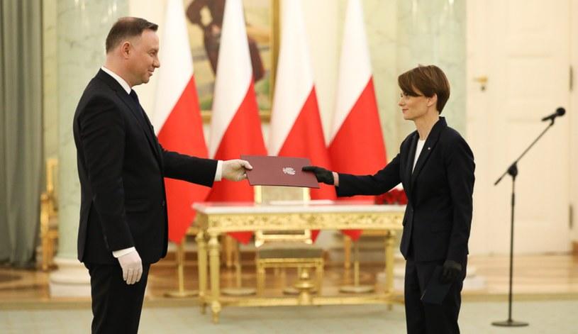 Prezydent Andrzej Duda powołał minister rozwoju Jadwigę Emilewicz na funkcję wicepremiera /Krystian Maj/KPRM /Twitter