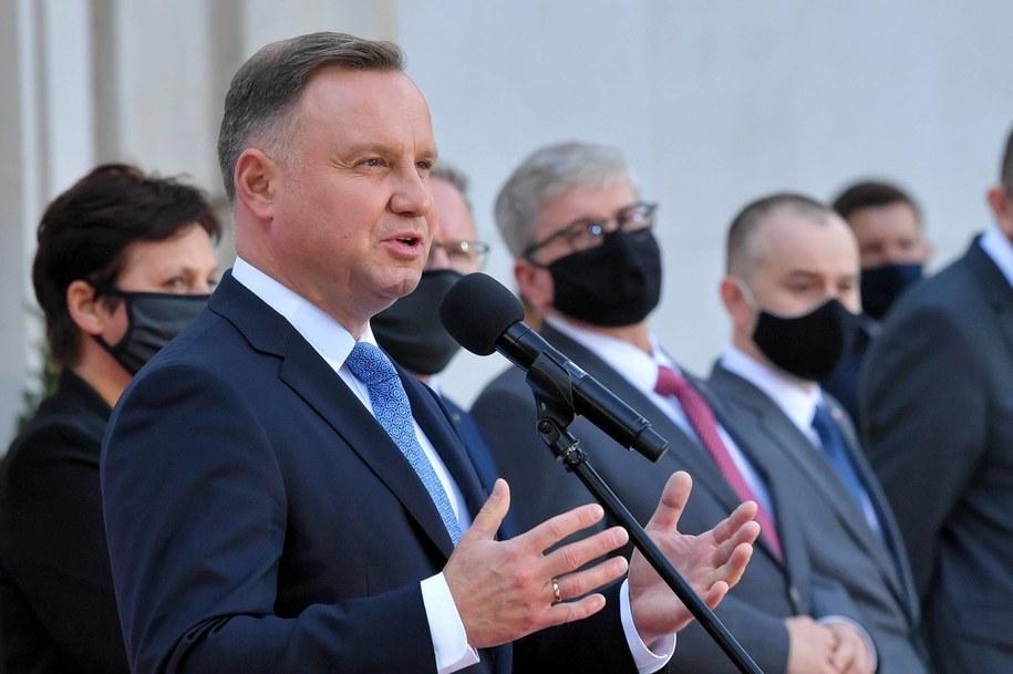 Prezydent Andrzej Duda skomentował w rozmowie z RMF FM skutki orzeczenia Trybunału Konstytucyjnego ws. przepisów aborcyjnych / Radek Pietruszka   /PAP