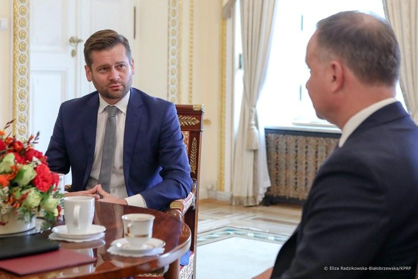 Prezydent Andrzej Duda spotkał się z posłem Kamilem Bortniczukiem /KPRM /Twitter
