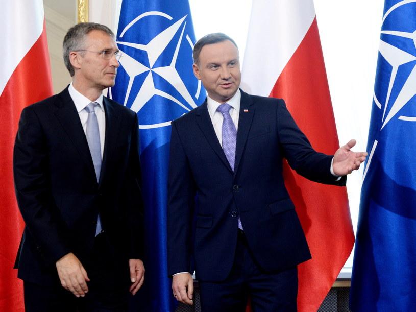 Prezydent Andrzej Duda spotkał się z sekretarzem generalnym Sojuszu Północnoatlantyckiego Jensem Stoltenbergiem /Jacek Turczyk   (PAP) /PAP