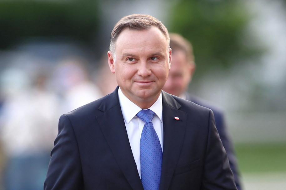 Prezydent Andrzej Duda to polityk, który w czerwcu cieszy się największym zaufaniem społeczeństwa //Łukasz Gągulski /PAP