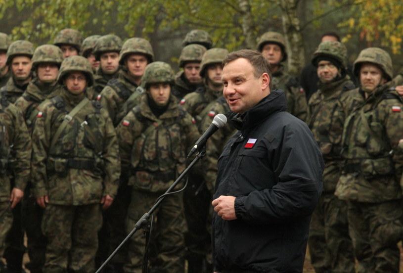 prezydent Andrzej Duda w Bemowie Piskim na Mazurach /Tomasz Waszczuk /PAP
