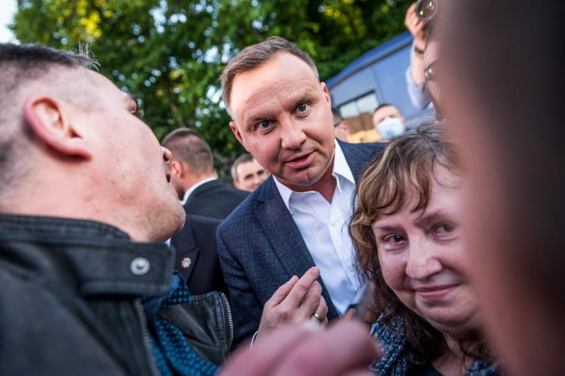Prezydent Andrzej Duda w Lęborku /Marcin Bruniecki /Reporter