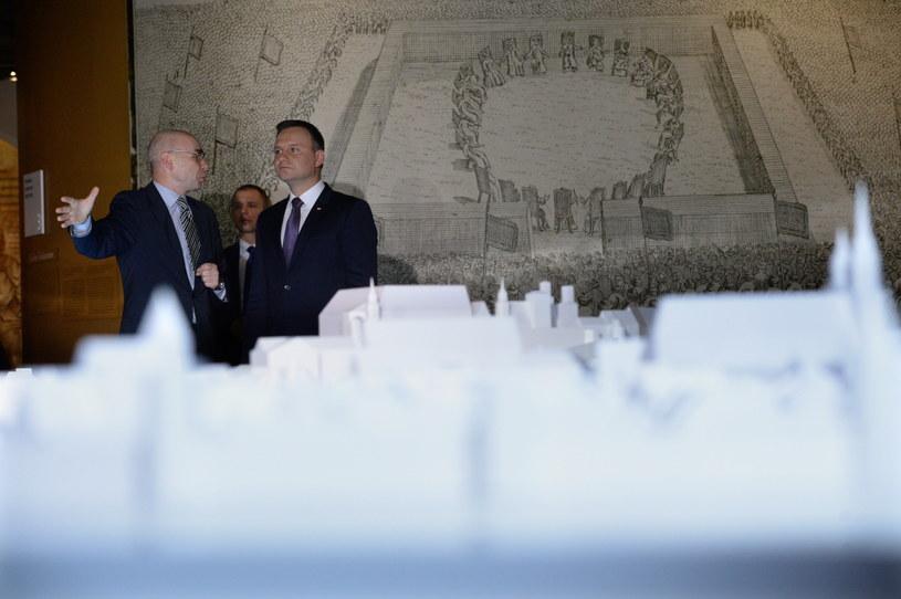 Prezydent Andrzej Duda w muzeum POLIN /Jacek Turczyk /PAP