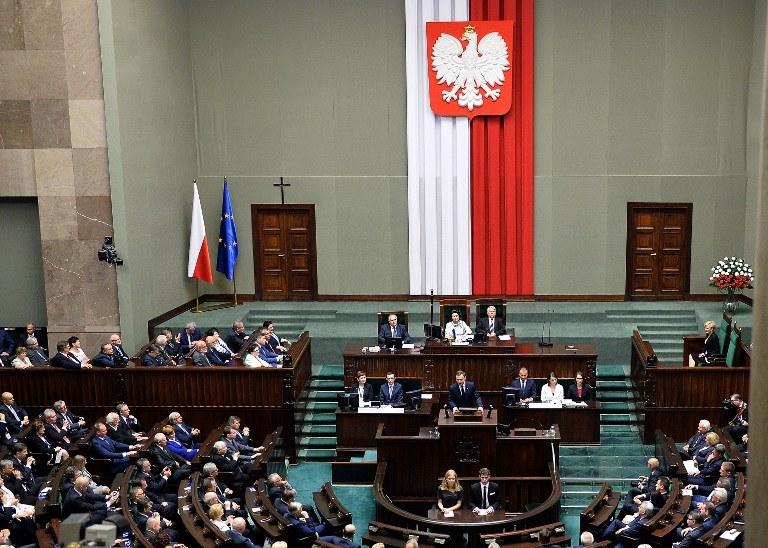 Prezydent Andrzej Duda w Sejmie /AFP
