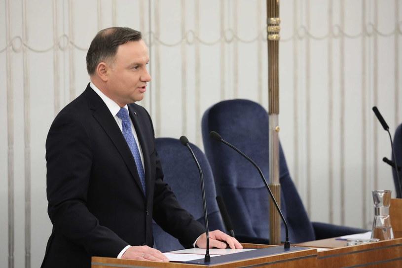 Prezydent Andrzej Duda w Senacie / Tomasz Gzell    /PAP