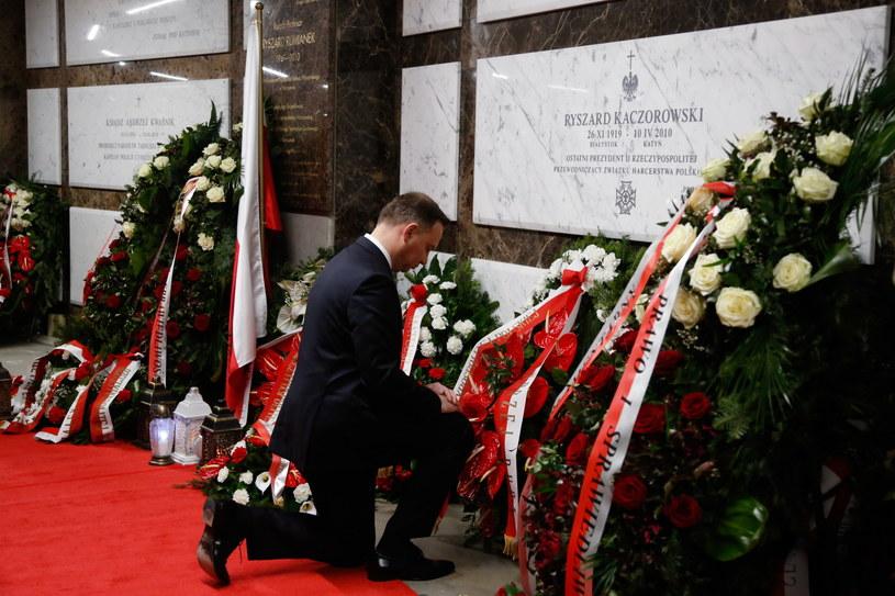 Prezydent Andrzej Duda w Świątyni Opatrzności Bożej /Adam Guz /PAP