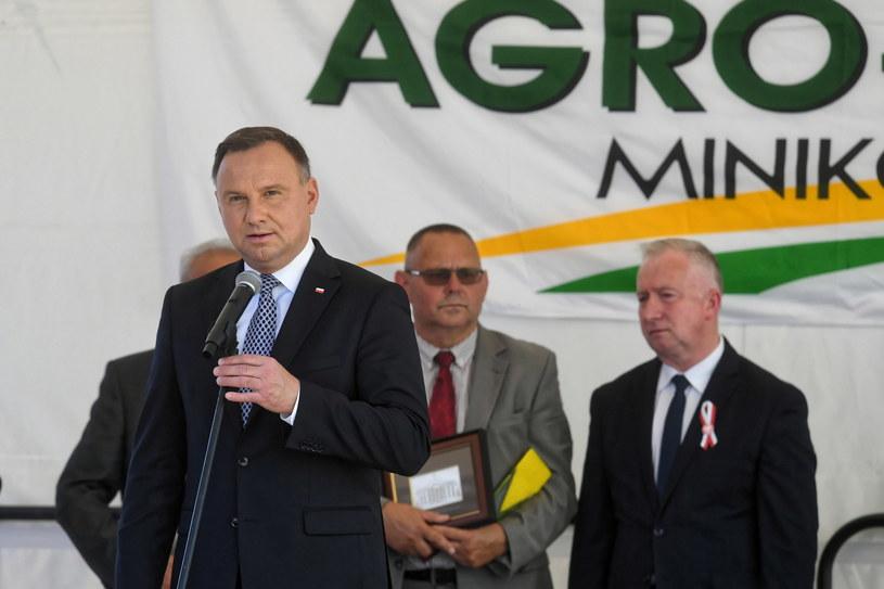 Prezydent Andrzej Duda wziął udział w inauguracji Międzynarodowych Targów Rolno-Przemysłowych Agro-Tech w Minikowie /Tytus Żmijewski /PAP