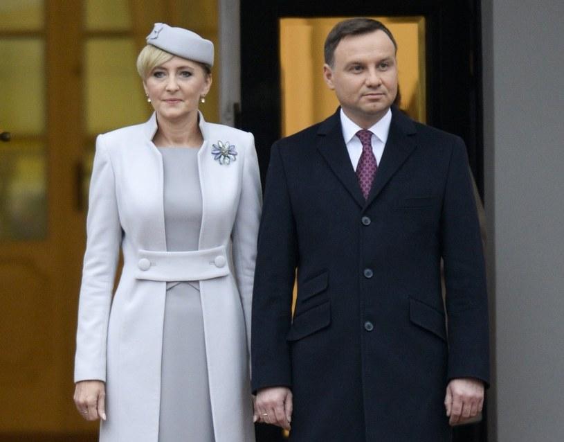 Prezydent Andrzej Duda z małżonką /Frederic Sierakowski / Isopix /East News