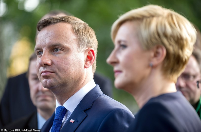 Prezydent Andrzej Duda z żoną Agatą /Bartosz Krupa /East News