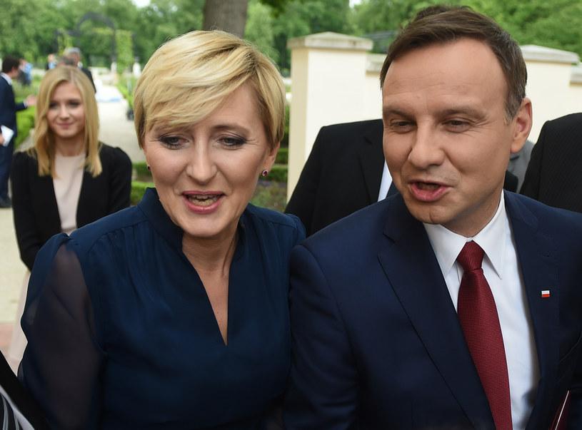 Prezydent Andrzej Duda z żoną Agatą /Adam Chełstowski /Agencja FORUM