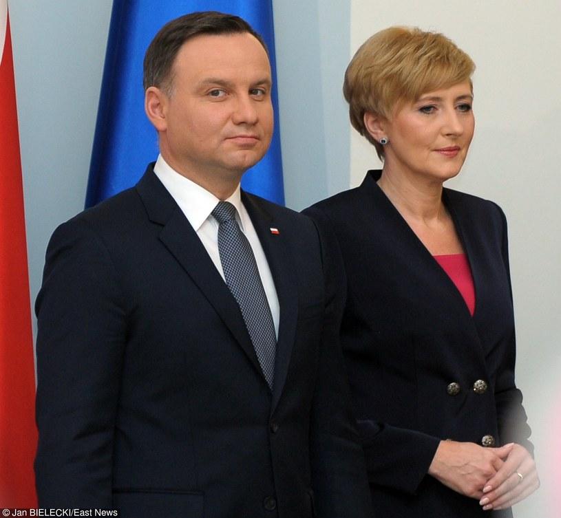 Prezydent Andrzej Duda z żoną /Jan Bielecki /East News
