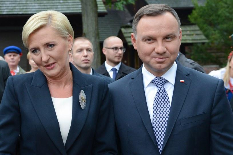 Prezydent Andrzej Duda z żoną /Adam Staśkiewicz /East News