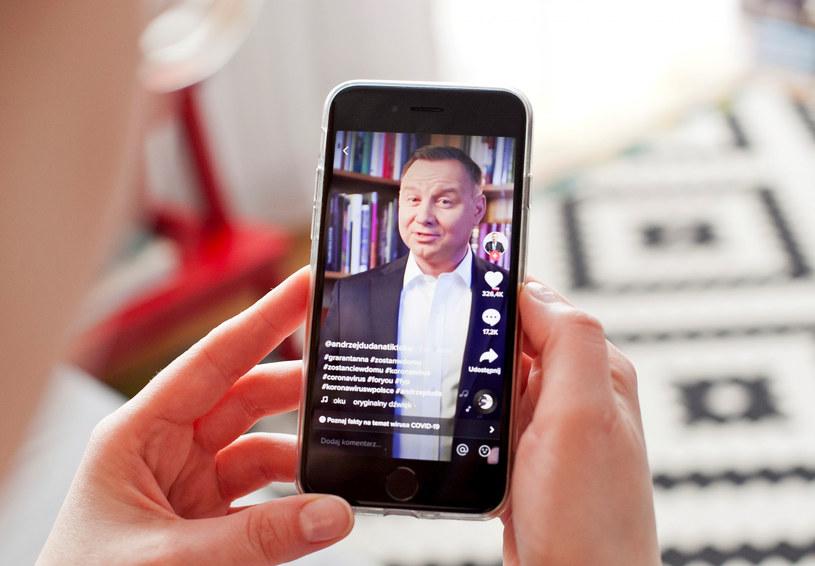 Prezydent Andrzej Duda założył konto na platformie internetowej TikTok pod koniec marca 2020 /Anna Golaszewska /East News