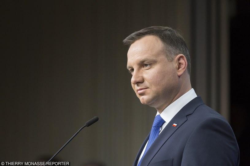 Prezydent Andrzej Duda /Thierry Monasse /Reporter