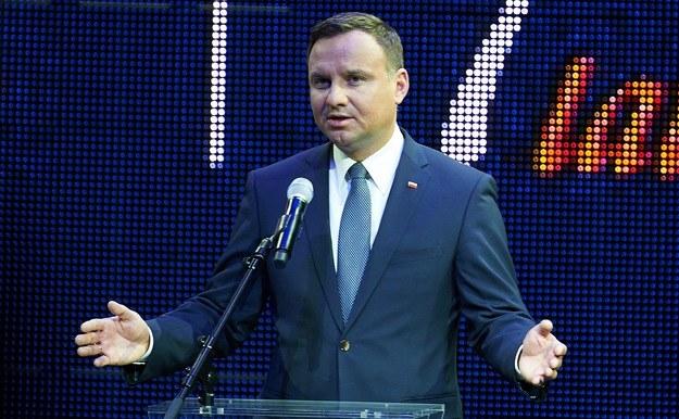 Prezydent Andrzej Duda /Adam Warżawa
