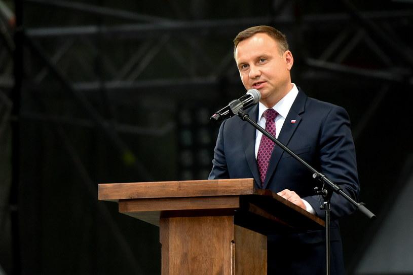 Prezydent Andrzej Duda /Jakub Kaczmarczyk /PAP