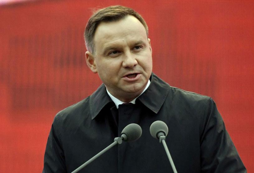 Prezydent Andrzej Duda /Szilard Koszticsak /PAP/EPA