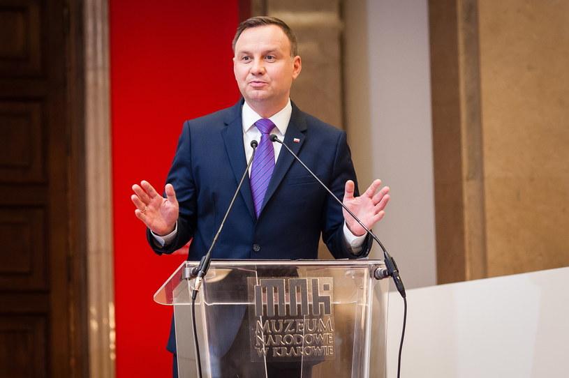 Prezydent Andrzej Duda /Grzegorz Lyko / ArtService /Agencja FORUM