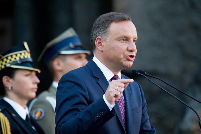 Prezydent Andrzej Duda /Andrzej Iwańczuk/Reporter /East News