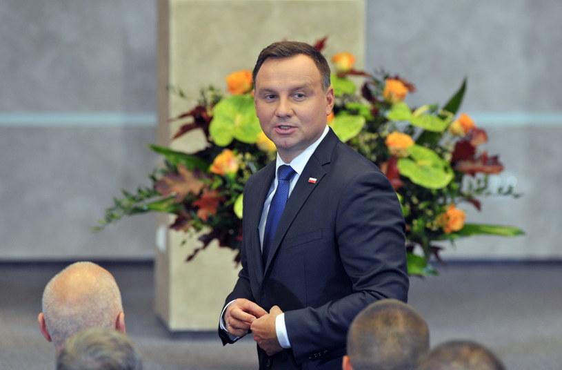 Prezydent Andrzej Duda /Marcin Bielecki /PAP