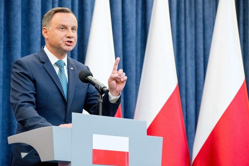 Prezydent Andrzej Duda /Andrzej Iwańczuk /Reporter