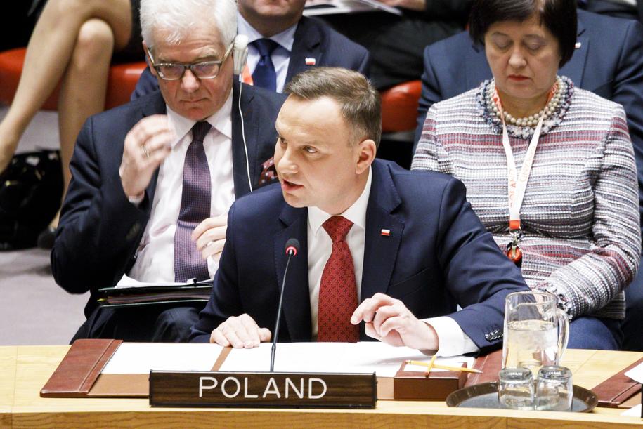 Prezydent Andrzej Duda /PAP/EPA