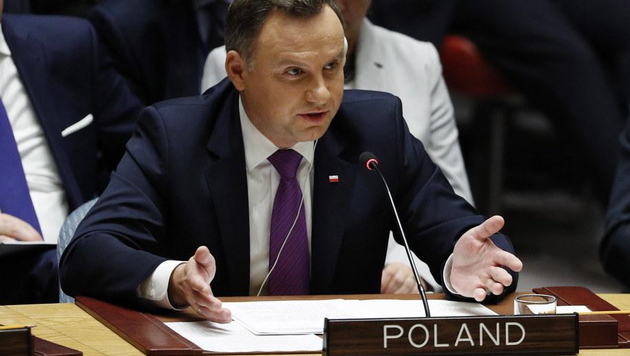 Prezydent Andrzej Duda /JUSTIN LANE /PAP/EPA