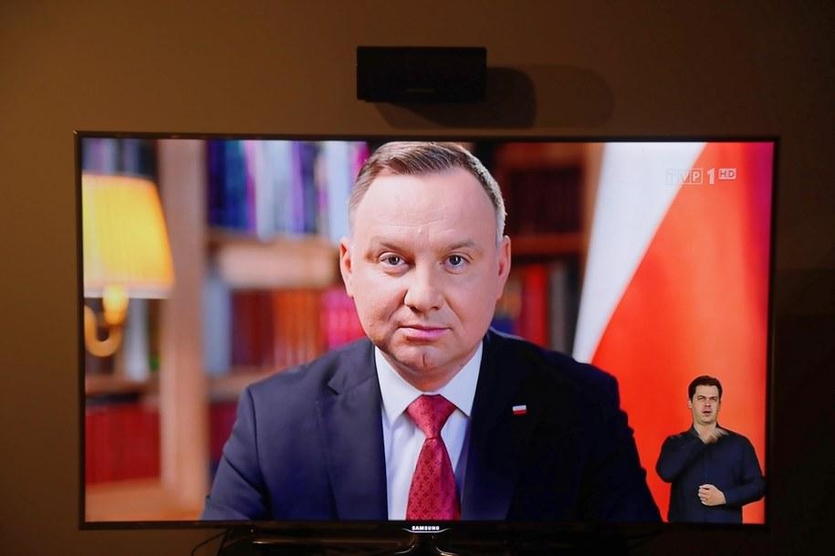 Prezydent Andrzej Duda /Wojciech Olkuśnik /PAP