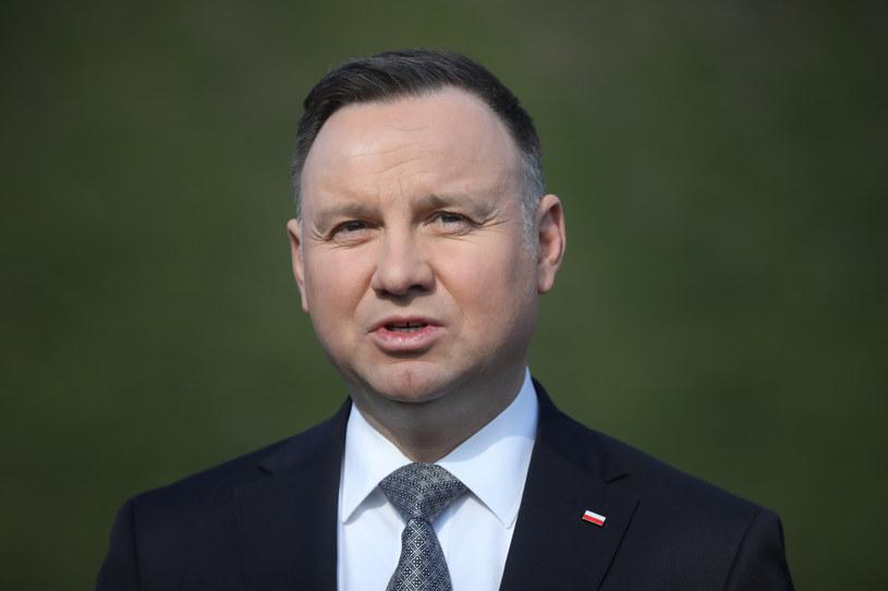 Prezydent Andrzej Duda /Beata Zawrzel /Reporter