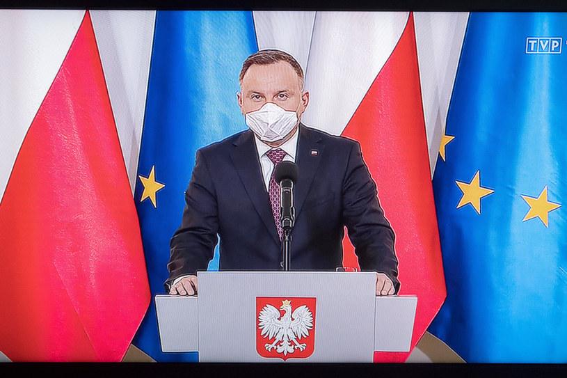 Prezydent Andrzej Duda /Wojciech Strozyk/ /Reporter