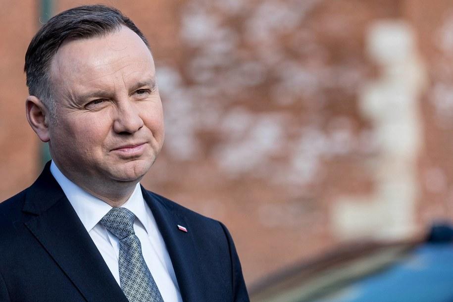 Prezydent Andrzej Duda //Łukasz Gągulski /PAP