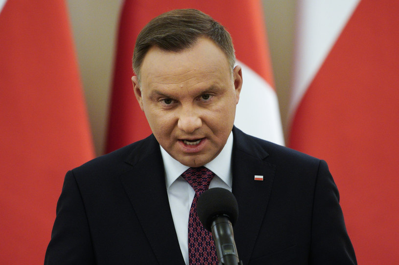 Prezydent Andrzej Duda /Jaap Arriens/NurPhoto via Getty Images /Getty Images