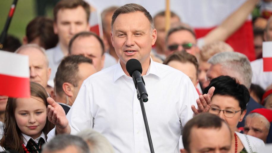 Prezydent Andrzej Duda / Leszek Szymański    /PAP