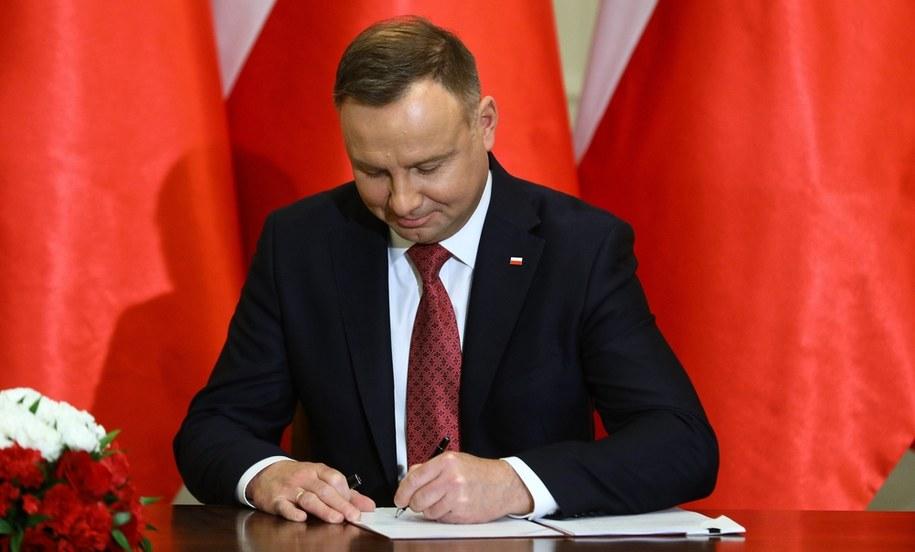 Prezydent Andrzej Duda /Andrzej Duda /PAP